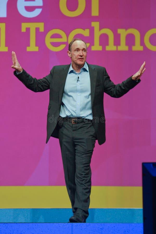 Tim Berners-Lee entrega direccionamiento a IBM Lotusphere imagen de archivo