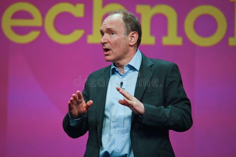 Tim Berners-Lee trasporta l'indirizzo all'IBM Lotusphere fotografia stock