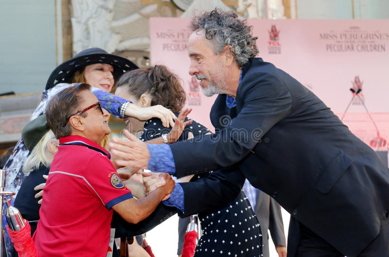 Tim Burton e Deep Roy immagini stock libere da diritti