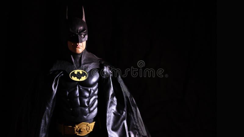 Tim Burtons Michael Keaton Batman 1989 lizenzfreies stockbild