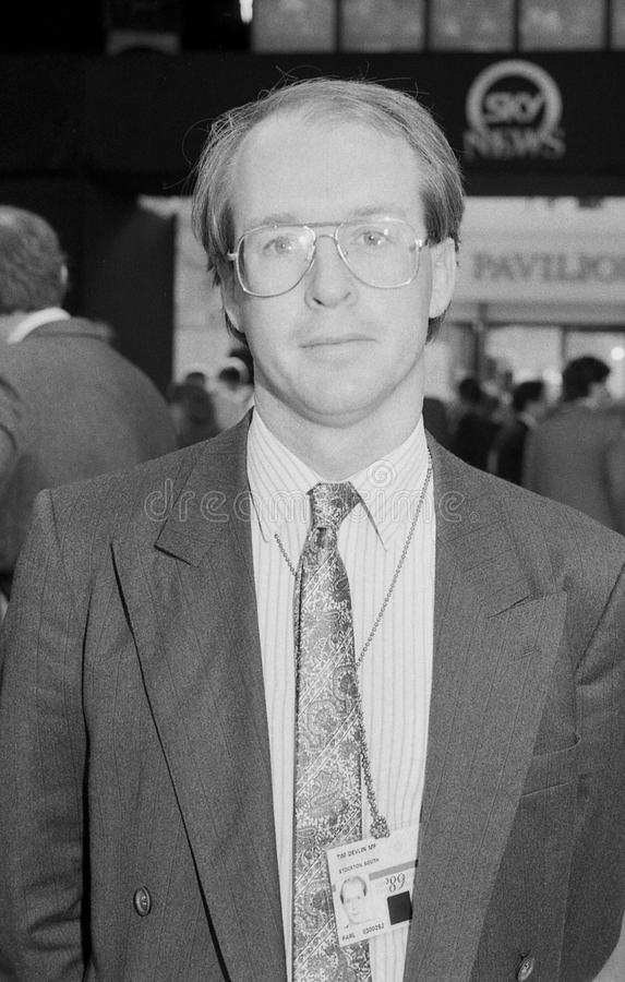 Tim Devlin. Conservative party Member of Parliament for Stockton South, visits the party conference in Blackpool, Lancashire on October 10, 1989 stock photography