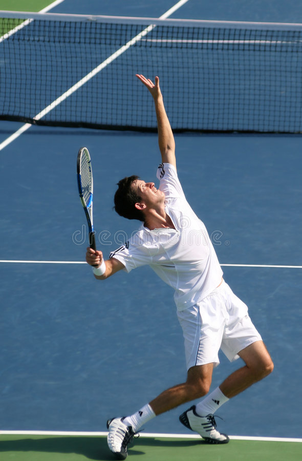 Free Tim Henman Serve Stock Photography - 4236382