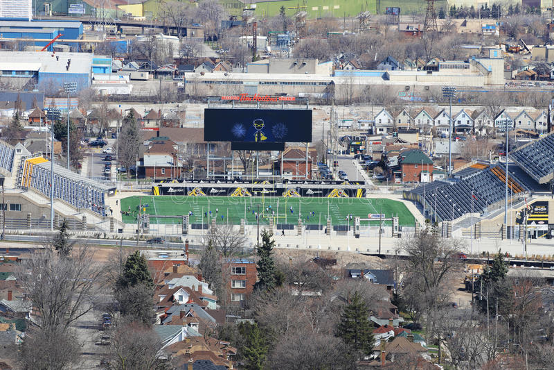 Tim Horton Stadium em Hamilton, Canadá foto de stock