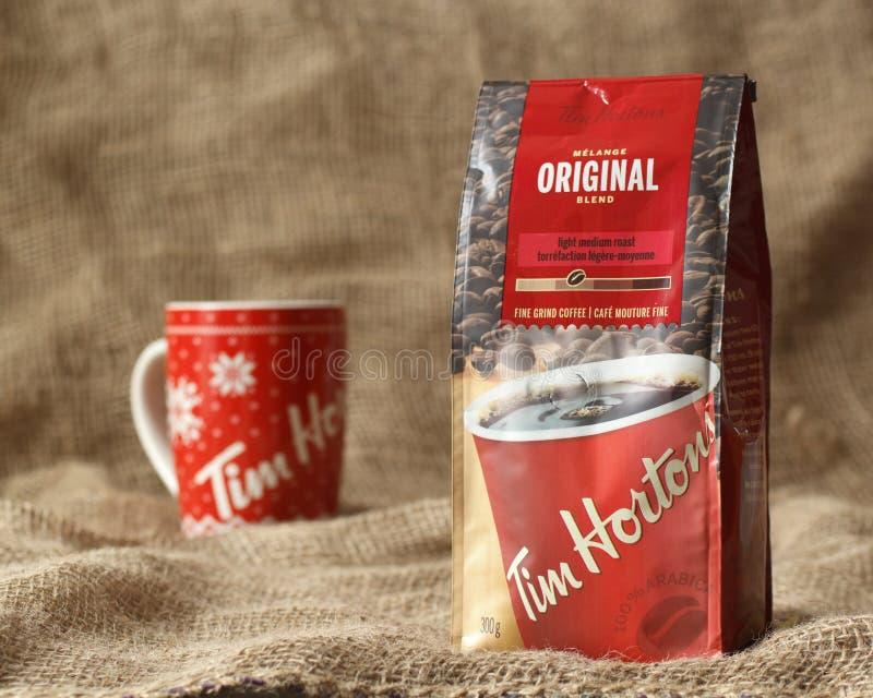 Tim Hortons Coffee royaltyfri bild