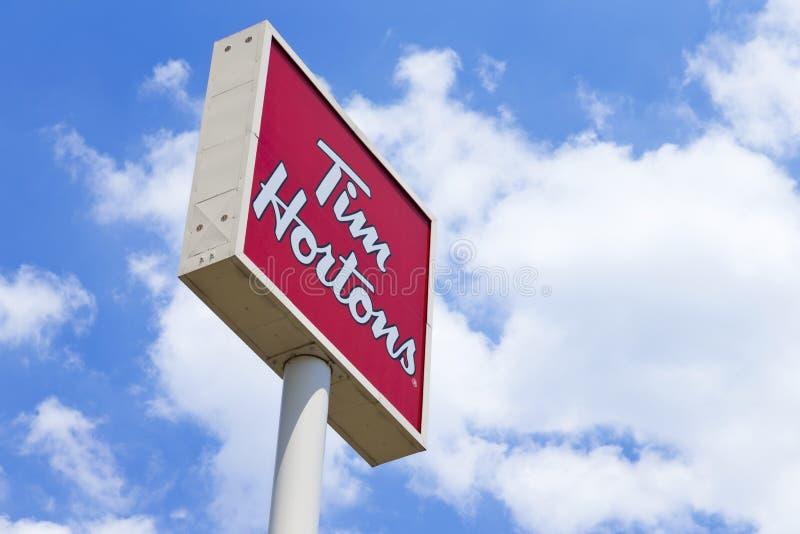 Tim Hortons Sign stock afbeeldingen