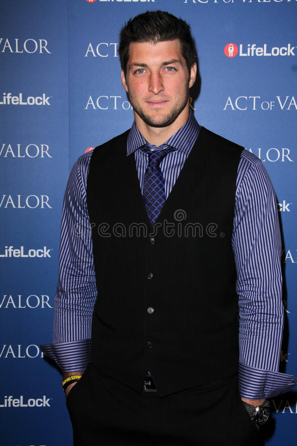 Tim Tebow. At the Act Of Valor Los Angeles Premiere, Arclight, Hollywood, CA 02-13-12 royalty free stock photos