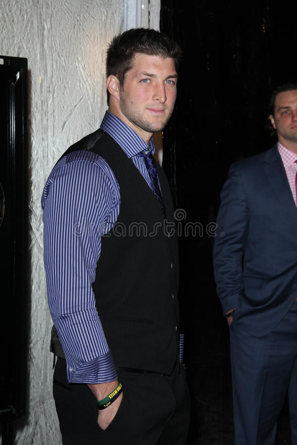 Tim Tebow. At the Act Of Valor Los Angeles Premiere, Arclight, Hollywood, CA 02-13-12 stock image
