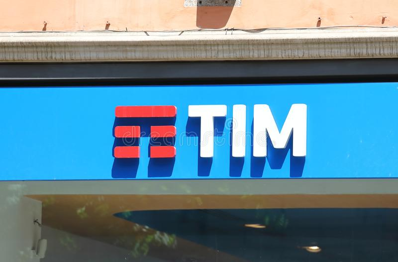 TIM Telecom Italia mobile telephone company Italy royalty free stock photo
