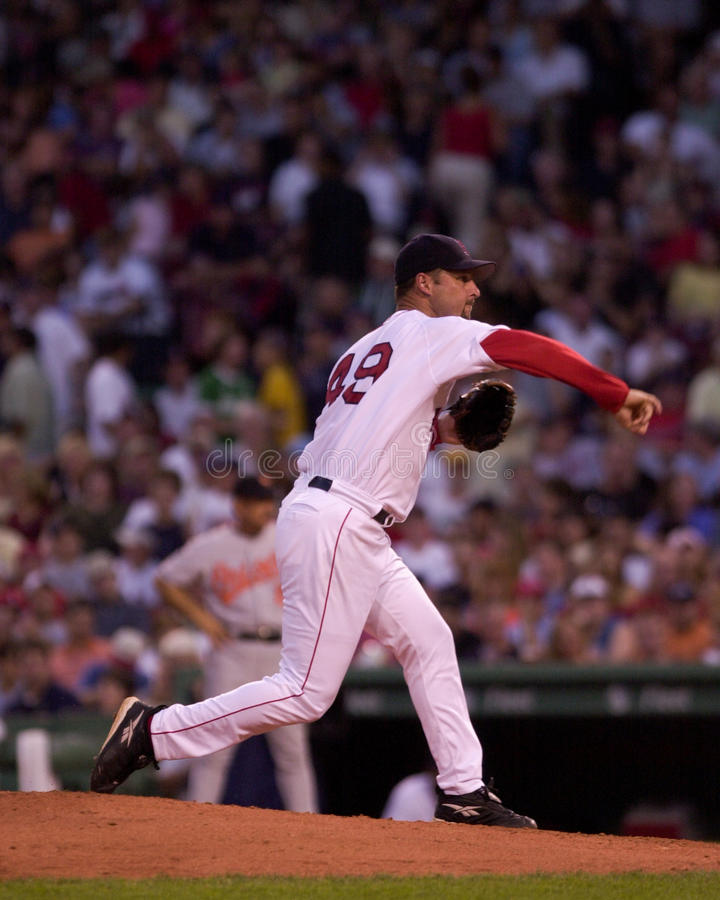 Tim Wakefield Boston Red Sox royaltyfria foton
