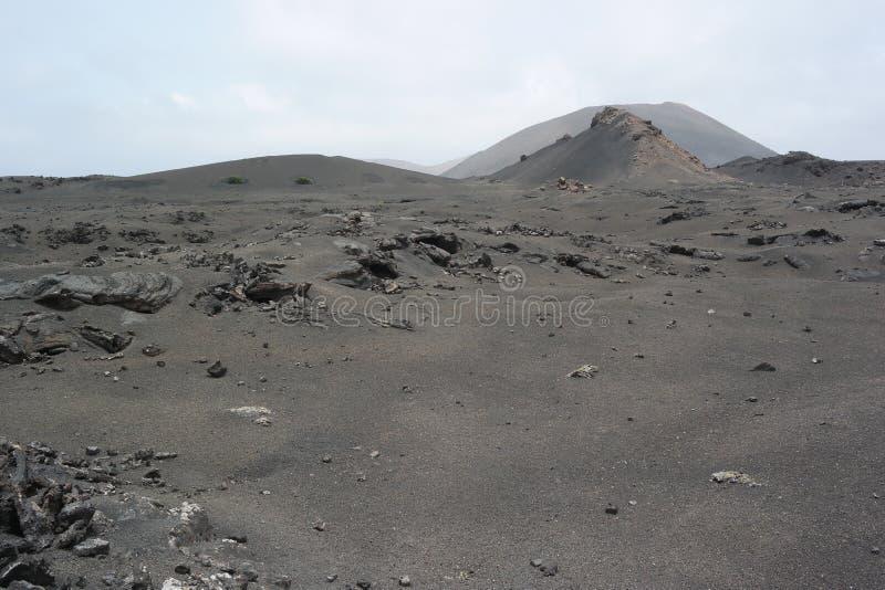 Timanfaya国家公园,兰萨罗特岛,卡纳里亚海岛 免版税库存照片