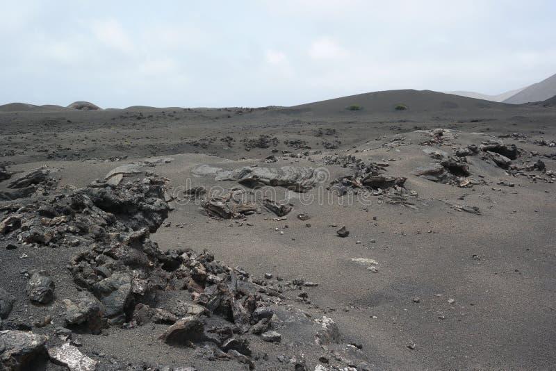 Timanfaya国家公园,兰萨罗特岛,卡纳里亚海岛 库存照片