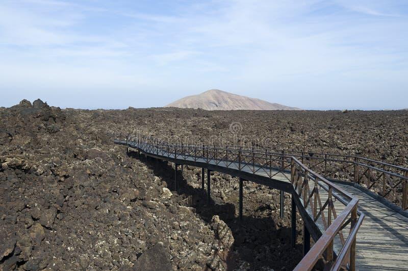Timanfaya熔岩流 库存图片