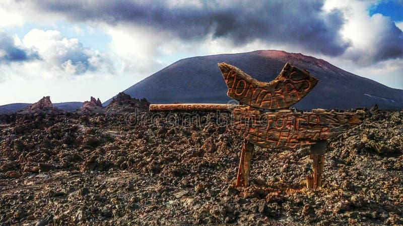 Timanfaya Lanzarote immagine stock