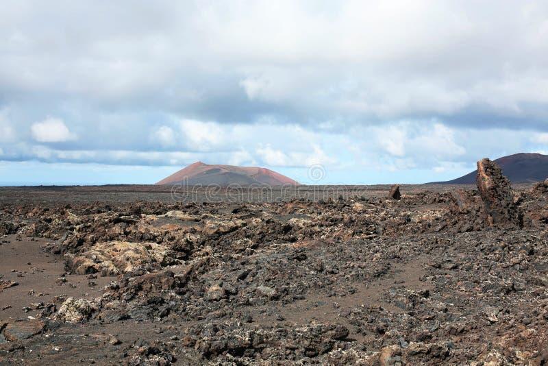 Timanfaya Nationaal Park op Lanzarote Eiland, Canarische Eilanden, Spanje royalty-vrije stock foto's