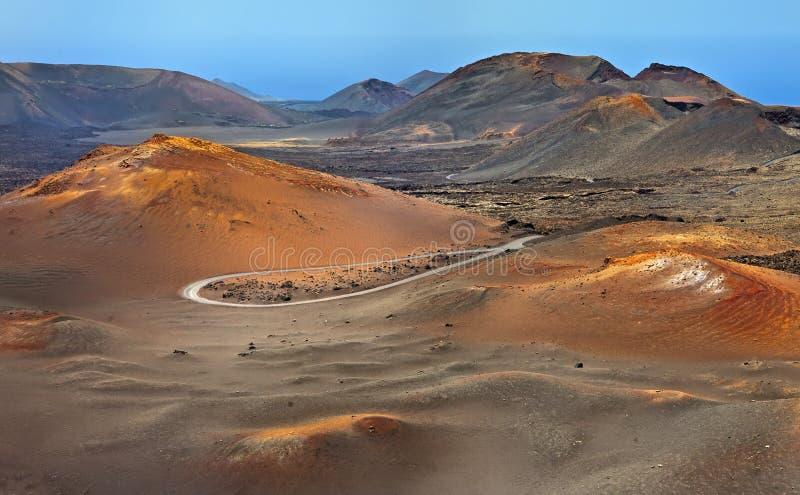 Timanfaya Nationalpark, Lanzarote stockfotos