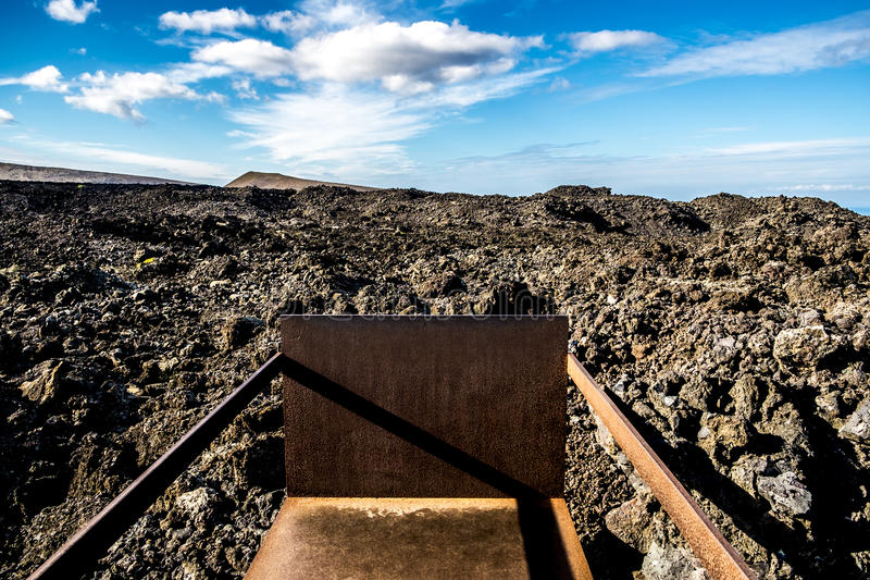 Timanfaya volcanic area in Lanzarote,. Canary Islands, Spain royalty free stock photos