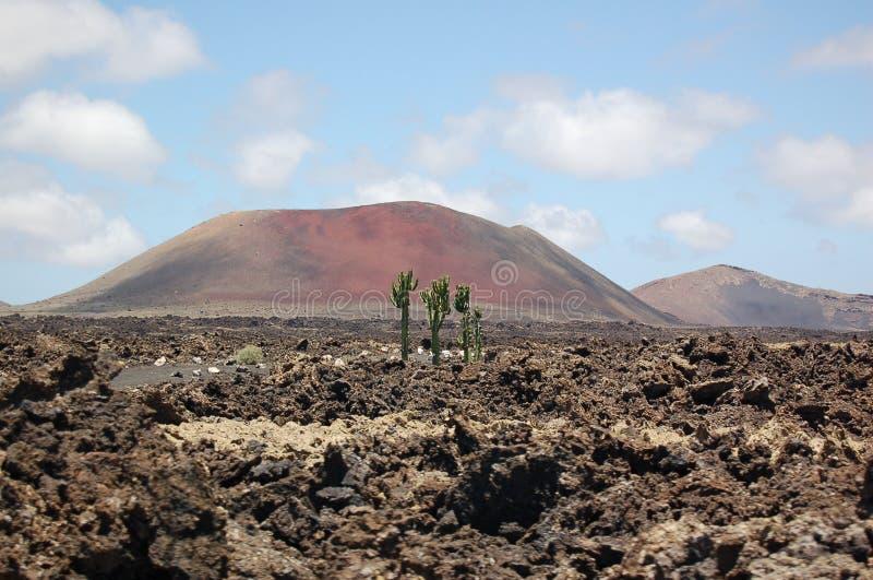 Timanfaya volcano on Lanzarote, Canary Islands stock images