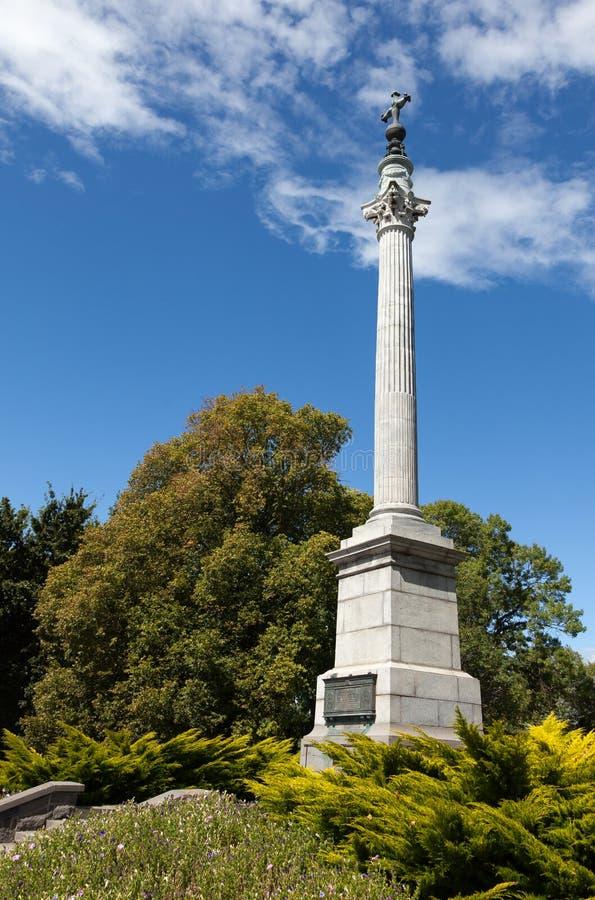 TIMARU, REGIÓN NUEVA ZELANDA DE CANTORBERY - 24 DE FEBRERO: El gran monumento de guerras en Timaru Nueva Zelanda el 24 de febrero fotografía de archivo libre de regalías