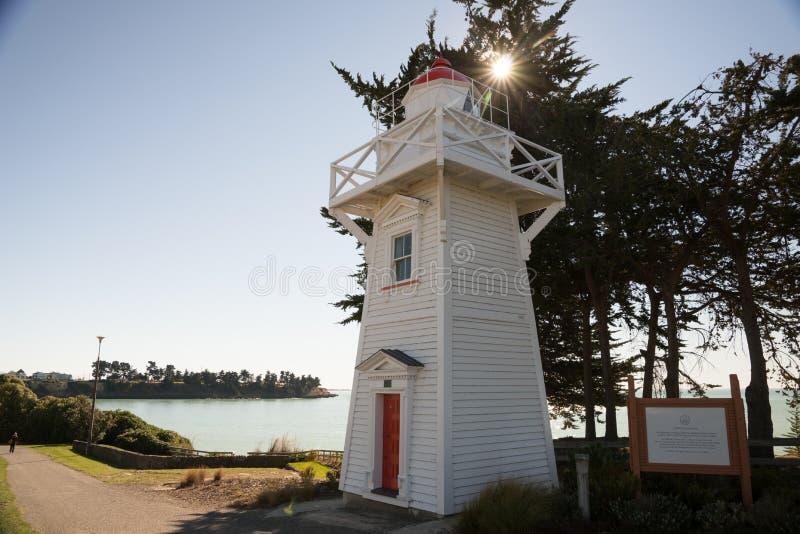 Timaru schronienia latarnia morska zdjęcia stock