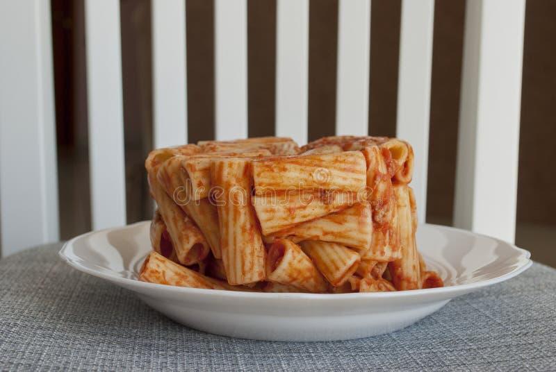Timbale des macaronis photographie stock libre de droits