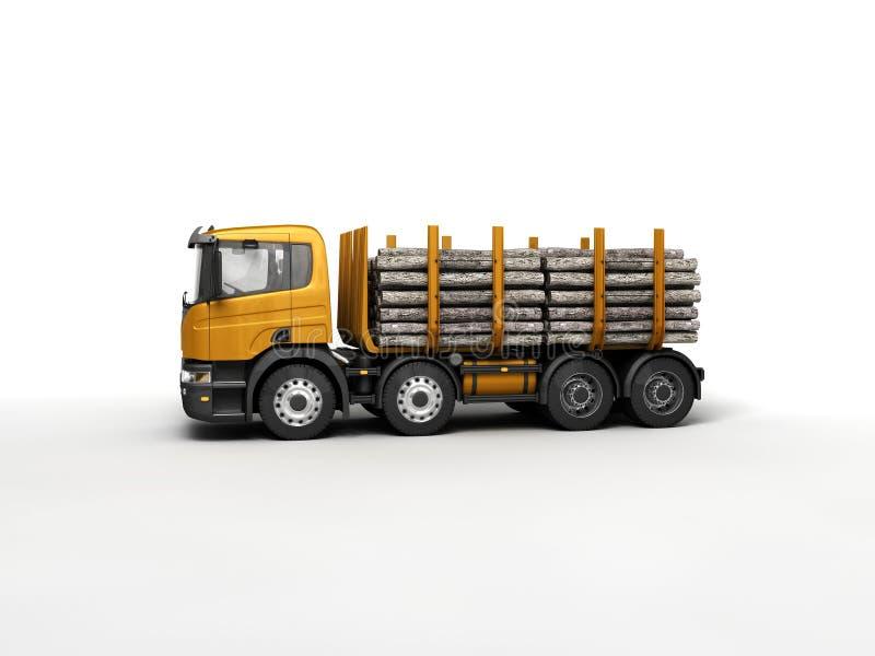 Timber. Big timber for wood transportation vector illustration