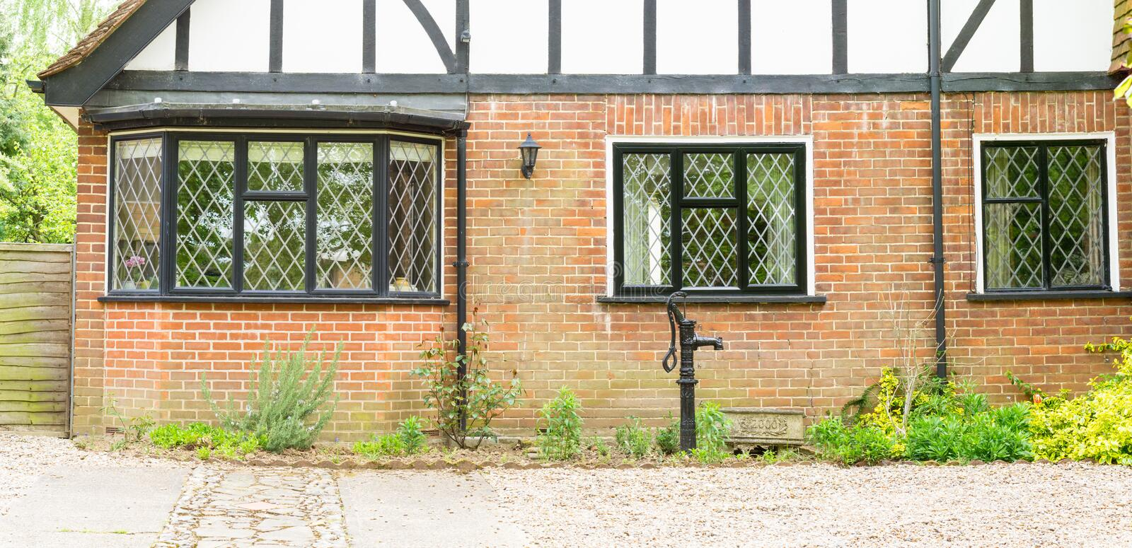 Timber Cottage bay windows. And architecture in rural England stock photography