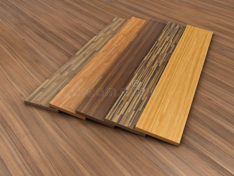Timber floor. Illustration of a timber floor with different colour of a parquet stock illustration