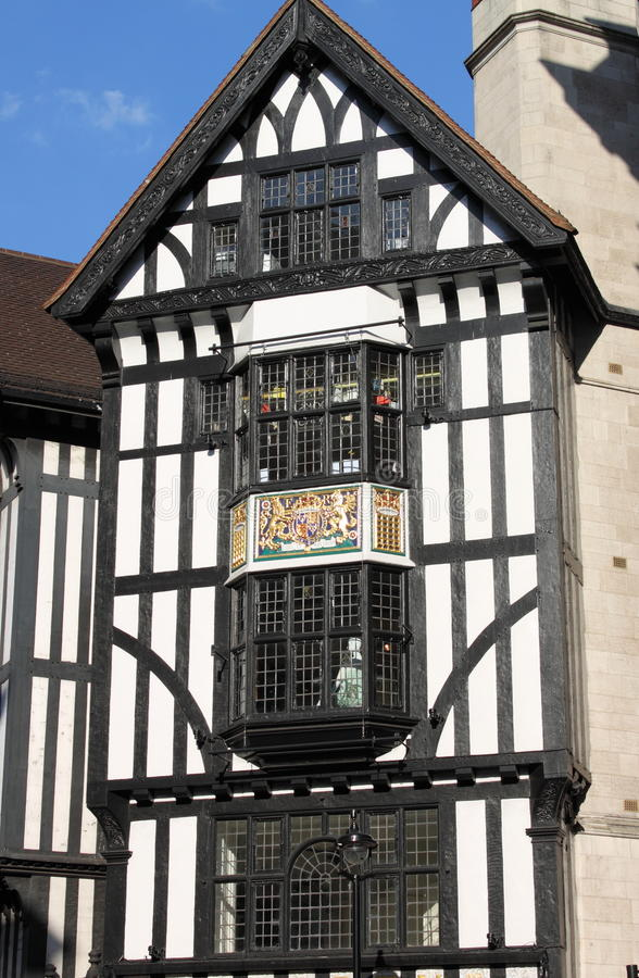 Timber frame building. In the downtown of London, UK stock image