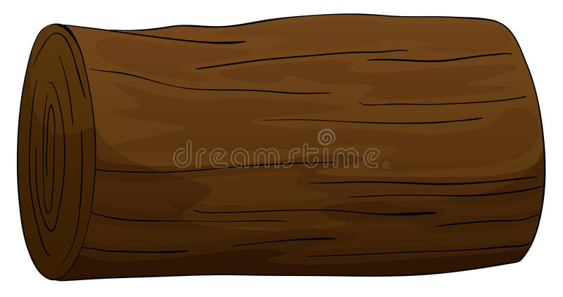 Timber log. Illustration of a timber on a white background royalty free illustration