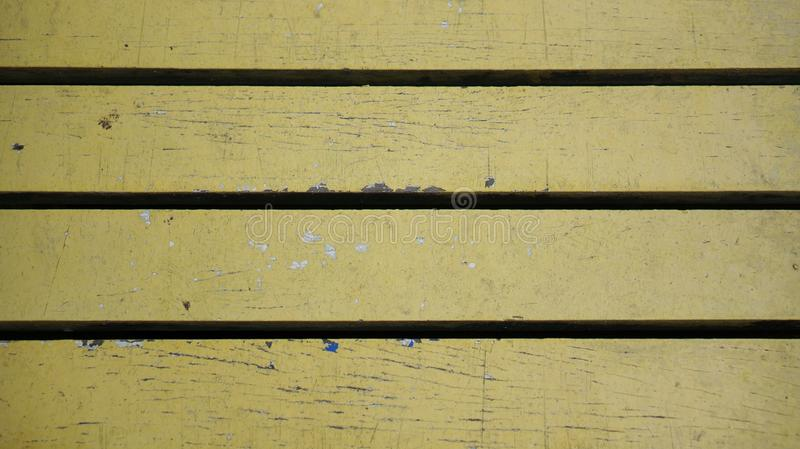 Timber plank floor of a small wood bridge. As background royalty free stock image