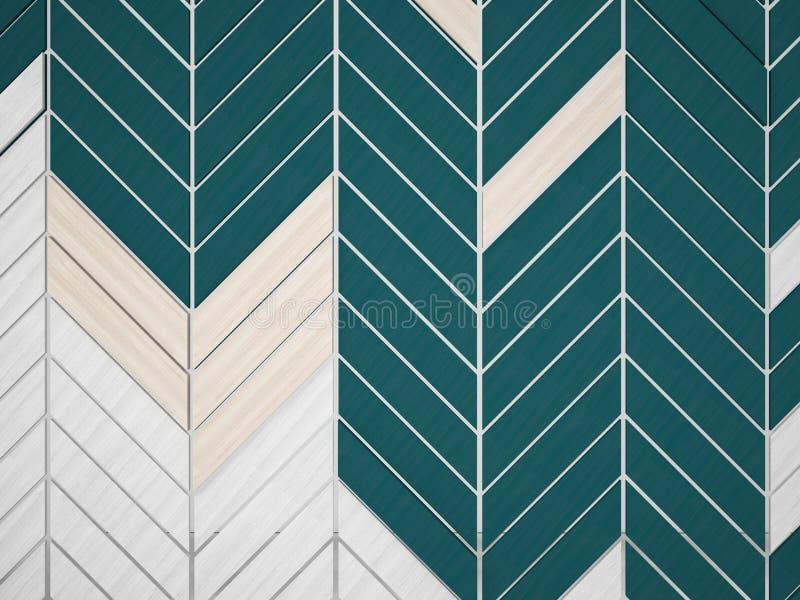 Timber wood slats pattern background, 3d render design.  vector illustration