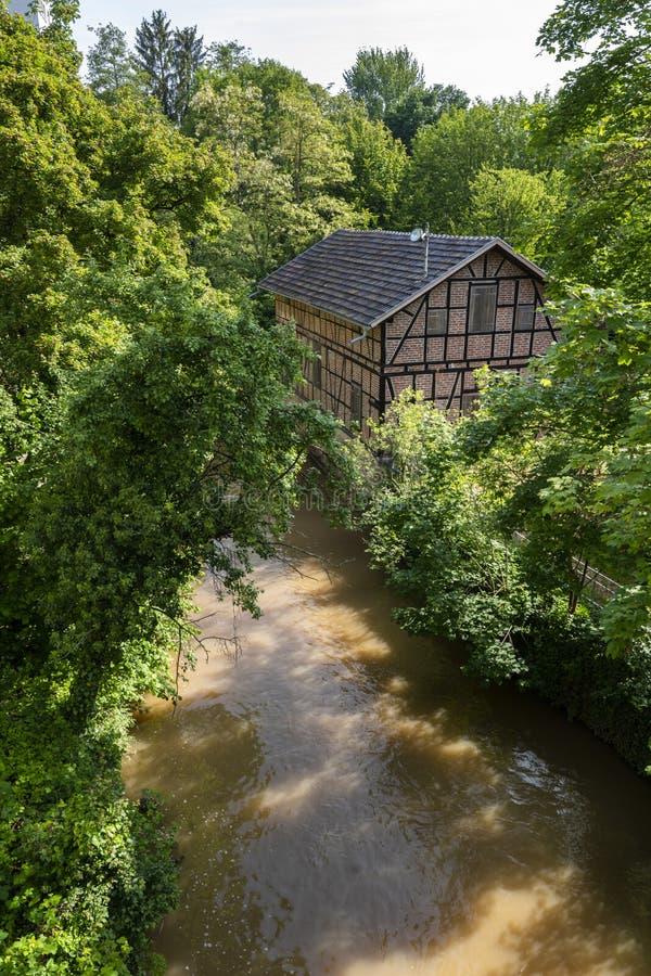 Timbered дом в Waiblingen, бэрах Murr Kreis, Германии стоковое изображение