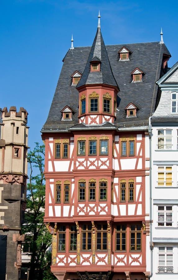 timbered дом frankfurt половинная стоковые изображения