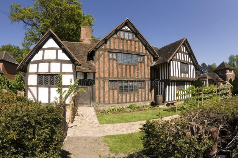 timbered половина зданий стоковое фото