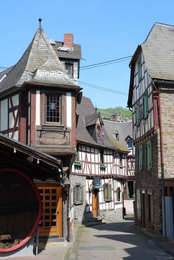 timbered старая домов Германии braubach немецкая половинная стоковое изображение