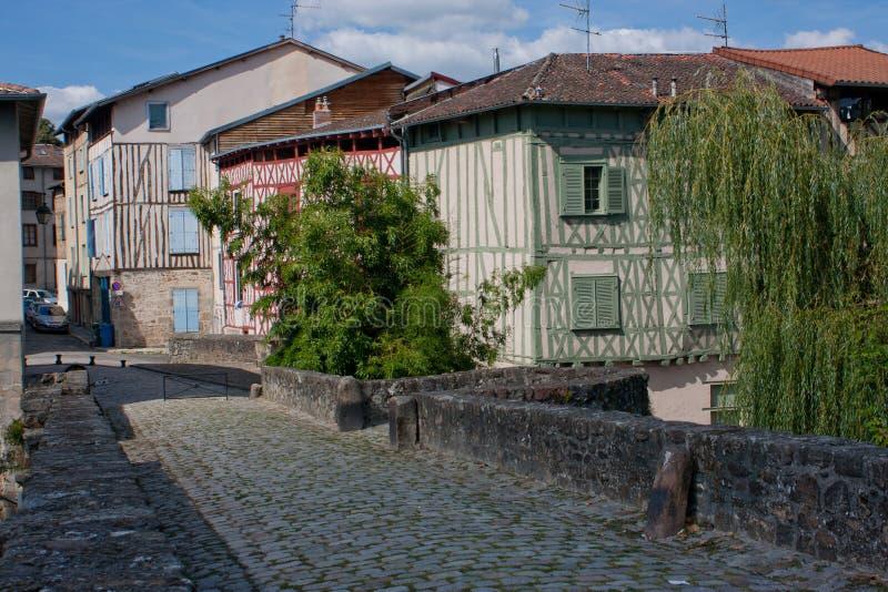 Timbered фасады Лиможа стоковое изображение rf