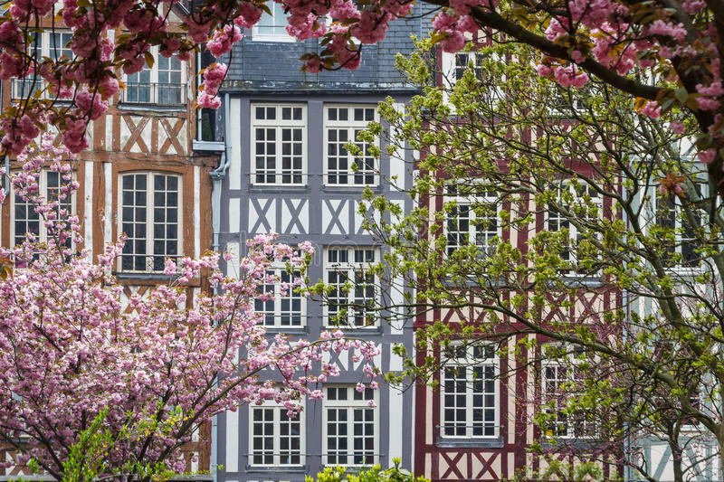 Timbered facades in Rouen royalty free stock photography