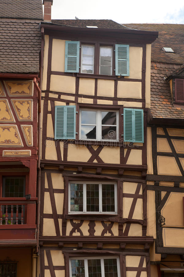 Download Timbered houses of Colmar stock image. Image of german - 25154111