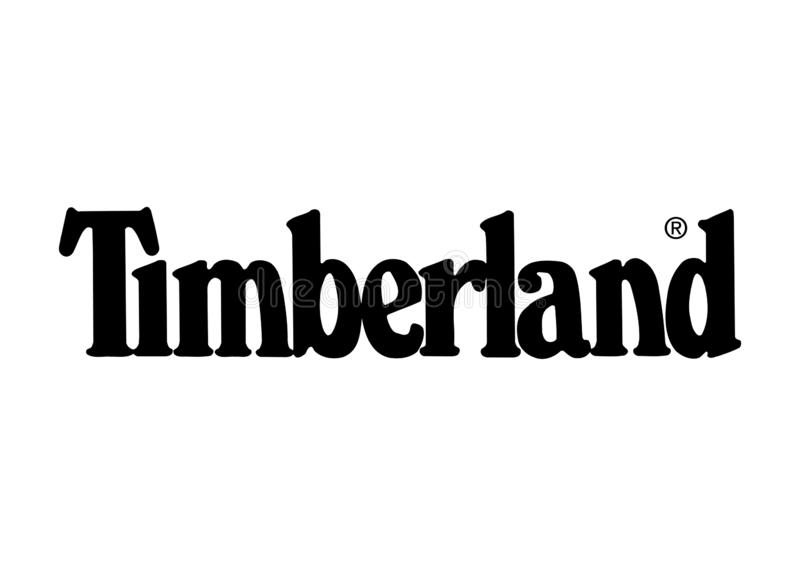 Timberland embleem royalty-vrije stock foto