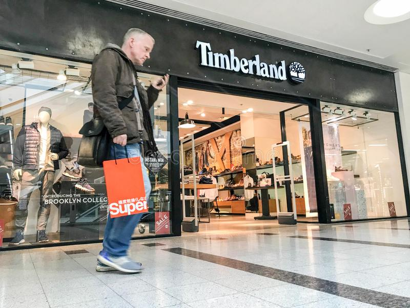 Timberland store, london stock photography