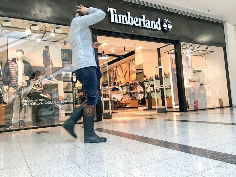 Timberland sklep, London zdjęcia royalty free