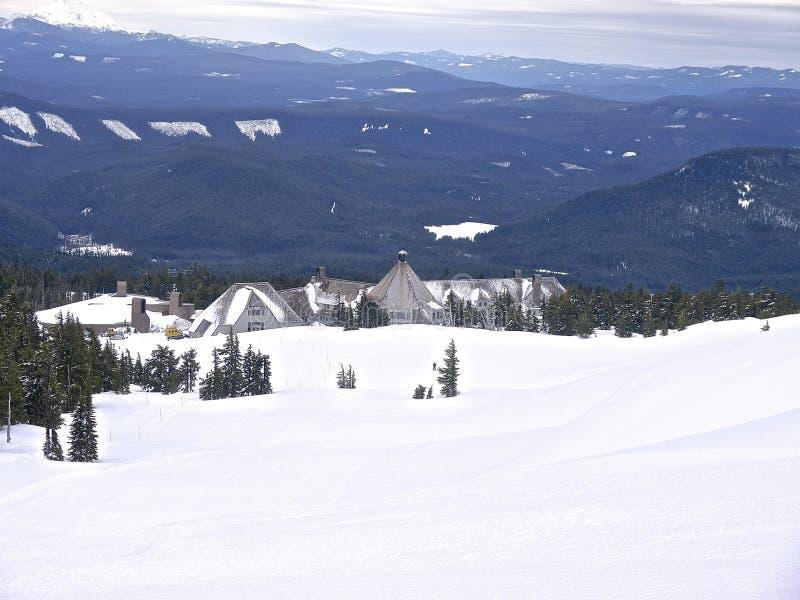 Timberline lodge ski resort Mount Hood 03-30-2014 Oregon USA arkivfoto