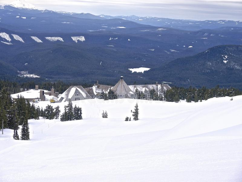 Timberline lodge ski resort Mount Hood. 03-30-2014 Oregon USA stock photo
