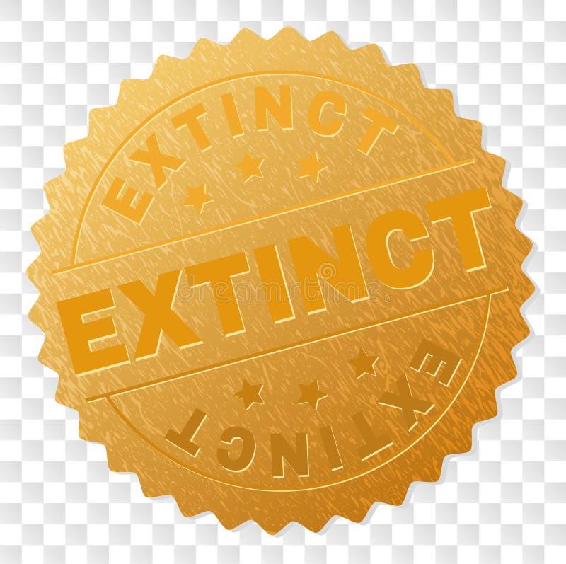 Timbre ÉTEINT d'or de médaille illustration stock