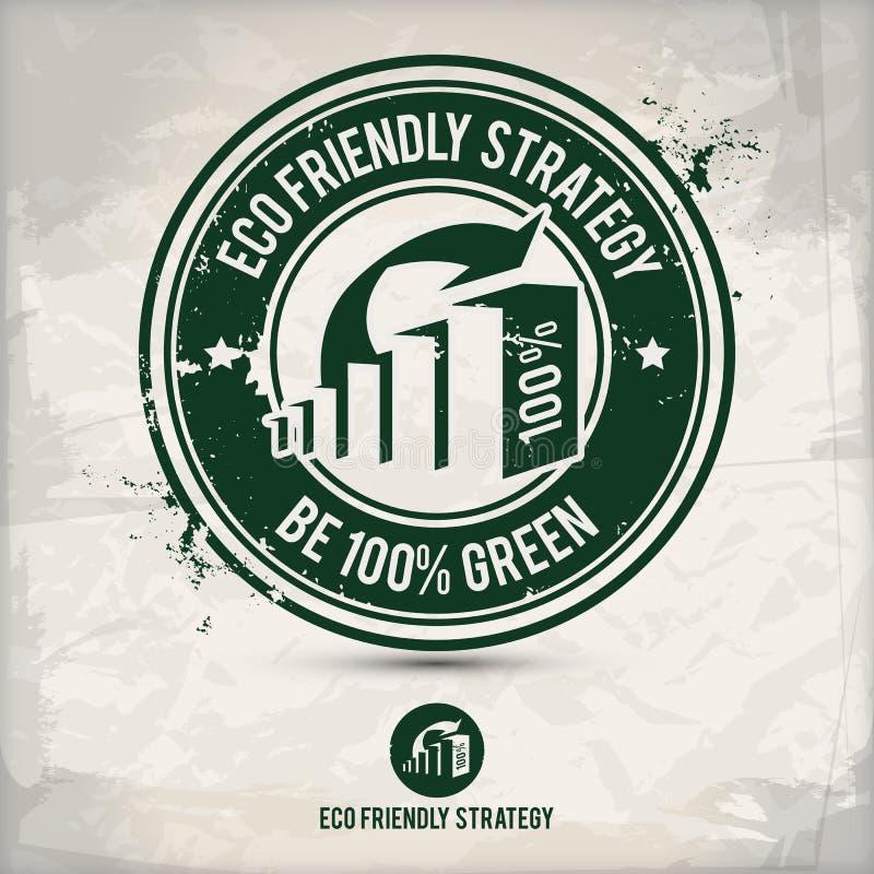 Timbre alternatif de stratégie d'eco illustration stock