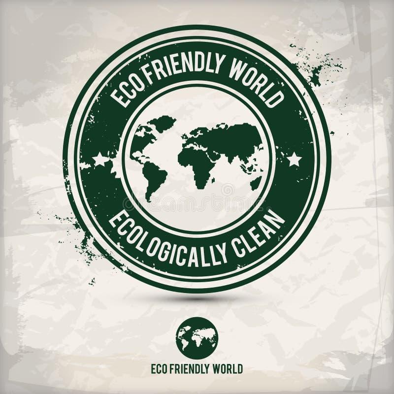 Timbre alternatif du monde d'eco illustration libre de droits