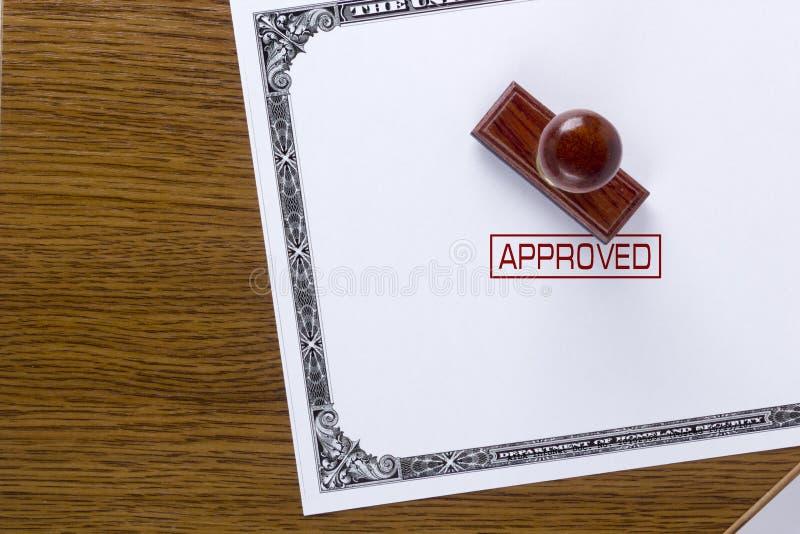 Timbre approuvé de citoyenneté images libres de droits