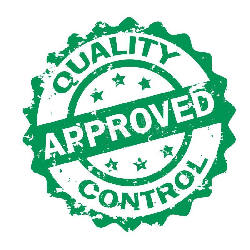 Timbre approuvé par contrôle de qualité illustration stock