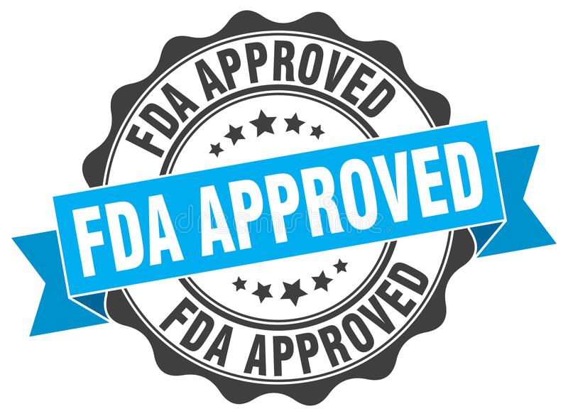 Timbre approuvé par le FDA illustration stock
