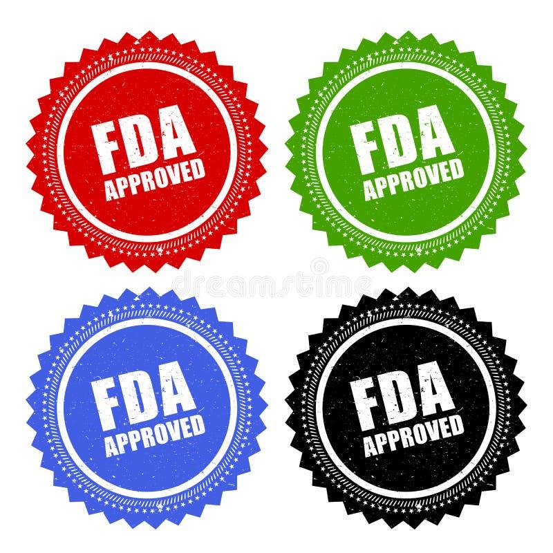 Timbre approuvé par le FDA illustration de vecteur